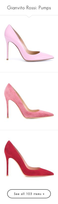"""""""Gianvito Rossi: Pumps"""" by livnd ❤ liked on Polyvore featuring Pumps, GianvitoRossi, livndshoes, livndgianvitorossi, shoes, pumps, heels, patent leather pumps, light pink shoes and pointed toe stilettos"""