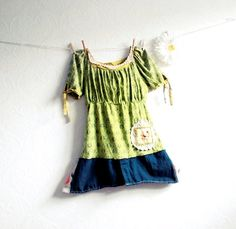upcycled t shirt ideas | ... Clothing Chartreuse Top Green Women's Shirt Empire... - T-Shirt