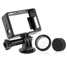 CamKix Frame Mount for GoPro Hero and 3 / USB, HDMI, and SD Slots Fully Accessible – Light and Compact Housing for Your Action Camera – Includes 1 Large Thumbscrew / 1 Tripod Mount / 1 Rubber Lens Cap / 1 UV Filter Lens Protector Gopro Hero 4 Black, Gopro Hero 3, Gopro Drone, Gopro Camera, Gopro Accessories, Photo Accessories, Usb, Camcorder, Gopro Video