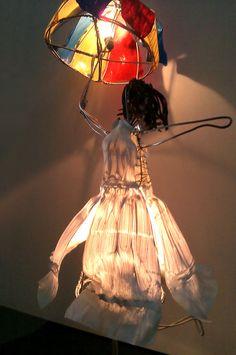 Ana Arista, escultura con luz