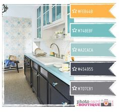 orange and blue and grey by Dorey's Designs