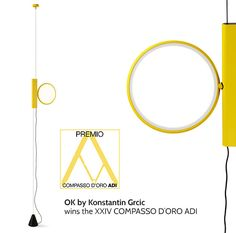 On the occasion of the ceremony of the XXIV edition of Compasso d'Oro ADI, the lamp OK by Konstantin Grcic, 2014, was awarded with the prestigious Compasso d'Oro Prize. #Flos #OK #KonstantinGrcic #CompassodOro