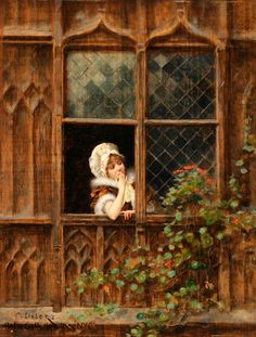 At the Window (Charles-Edouard Delort)