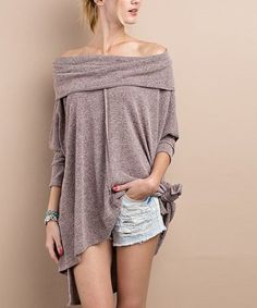 Loving this Mauve Off-Shoulder Tunic on #zulily! #zulilyfinds