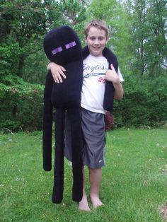 Excited to share this item from my shop: Giant Enderman Plush, 4 Feet Tall, Handmade, NOT official Minecraft Minecraft Costumes, Minecraft Toys, Minecraft Crafts, Minecraft Skins, Minecraft Buildings, Minecraft Stuff, Softies, Plushies, Minecraft Bedroom