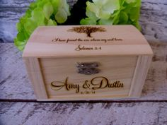 Rustic+Wedding+Ring+Box+Personalize+and++by+willowroaddesigns,+$23.00