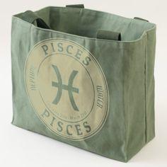 #fishing - #Utilities bag/Zodiac-Pisces logo Tote