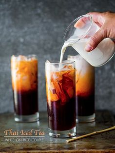 Easy Thai Tea Recipe | Homemade Thai Iced Tea Recipe... My favorite for that burn your face off hot Thai curry :)