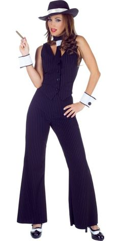 Bugsy Gangster Costume for Women - Party City