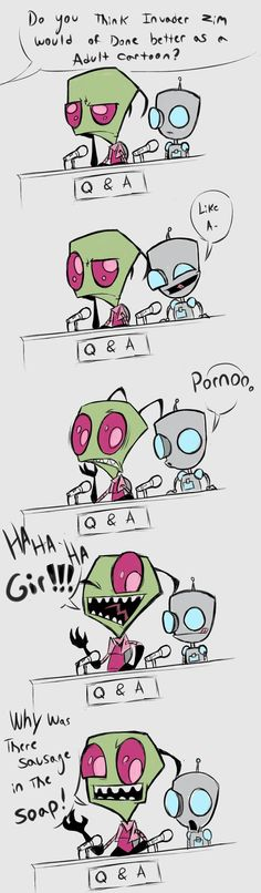Zim and Gir Q and A by VengefulSpirits on DeviantArt