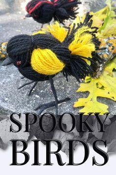 Wool Birds for Decor. 'Handfledged' by Jodie Jane Bird Sculpture, Sculptures, Yarn Crafts, Diy Crafts, Yarn Dolls, Cat Playground, Silk Ribbon Embroidery, Halloween Christmas, Crafty Craft