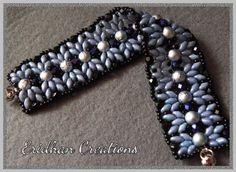 beaded bracelet free tutorial 6mm round beads SuperDuo beads 4mm fire polished beads 8/o seed beads (2 pcs) 11/o seed beads