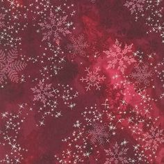 Robert Kaufman Sugar Plum Metallic AYCM Red Mottle Rose with Pink and Silver snowflakes Magic In The Moonlight, Raw Edge Applique, Applique Quilt Patterns, Robert Kaufman, Colorful Wallpaper, All That Glitters, Snowflakes, Plum, Rose