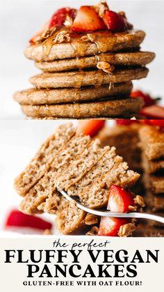 Dairy Free Recipes, Dog Food Recipes, Vegan Recipes, Cooking Recipes, Gluten Free Vegan Pancakes, Vegan Gluten Free, Vegan Breakfast, Healthy Breakfast Recipes, Vegan Meals
