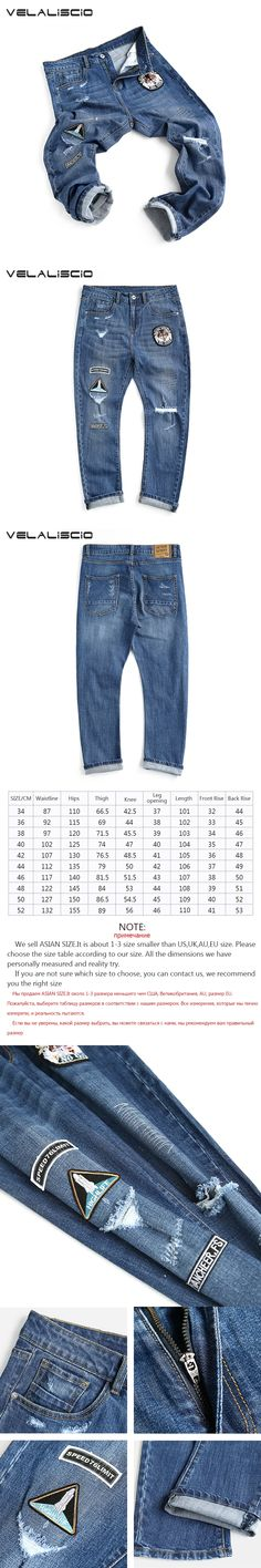 VELALISCIO New Harlan jeans male hole pants Trend Of Straight Young Men 's Loose Jeans Male winter New Large Size Men LP174050