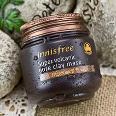 KBeauty  Face Mask Updated Version Innisfree Super Jeju Volcanic Mud Pore Clay Mask Acne Treatment Mask Face Care 100g Shrink Pores ** Want additional info? Click on the image.