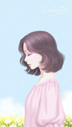 Image shared by GLen =^● 。●^=. Find images and videos about blue, sweet and girly on We Heart It - the app to get lost in what you love. Girly Drawings, Anime Girl Drawings, Anime Art Girl, Her Wallpaper, Cute Girl Wallpaper, Cartoon Girl Images, Cute Cartoon Girl, Anime Korea, Lovely Girl Image