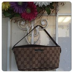e3302b9ad5d901 HP 7/13/16 Authentic Gucci Monogram Pochette Classic Chic HP on 7/13/15 by  @partymk999 % Authentic. Gently used with some normal signs of wear as  pictured.