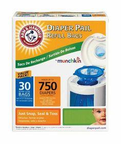 Munchkin 30-Pack Arm and Hammer Diaper Pail Bag Refills, Blue by Munchkin, http://www.amazon.ca/dp/B009R27JJC/ref=cm_sw_r_pi_dp_db1Tsb1MSKB80