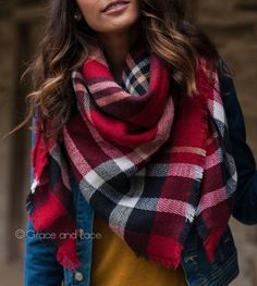 Gorgeous festive winter blanket scarf
