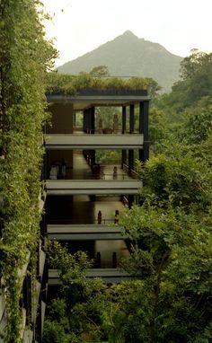Kandalama Hotel Exterior Designed by Sri Lanka's best-known architect
