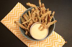 Spicy Green Bean Fries, 2 points plus and under 70 calories