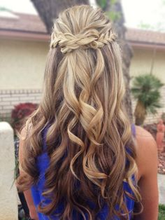 Braided half up half down hairstyles for Wedding & prom