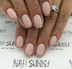 Colourful French Nails