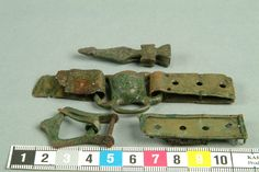 Viking erea. bronze belt fittings, Gotland, Sweden.