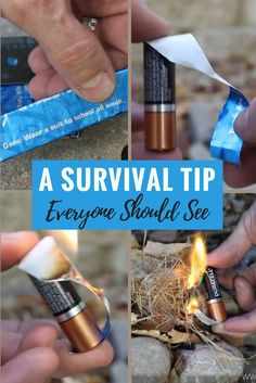He Cuts A Gum Wrapper In Half—Then Reveals A Survival Tip Everyone Should See - alperoezcan - bushcraft camping Survival Life Hacks, Survival Food, Camping Survival, Outdoor Survival, Survival Knife, Survival Prepping, Survival Skills, Camping Hacks, Survival Equipment