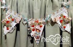 Heartfelt Creations | Strawberry Swirls Banner