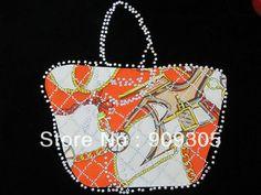Wholesale Handbag Design 200pcs/lot Hotfix Rhinestones Heat Transfer Design Iron On Motifs Patches Accept Custom Design