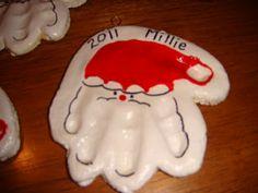Homemade Christmas 2 - Handprint Ornaments | nasagreen