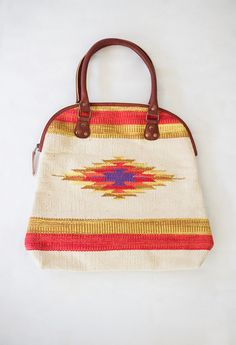 Aztec Star Canvas Handbag $72