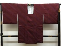 "Large Size Japanese Michiyuki coat "" bordeaux gradation  Michiyuki "" smooth silk…"