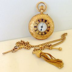 #18K #gold ladies half hunter #pocketwatch lot 127 in our #Jewellery #StainedGlass #Antiques & #FineArt #auction this Weds. Full catalogue at townsend-auctions.co.uk  #watches #antiquewatch #pocketwatches #clocksandwatches