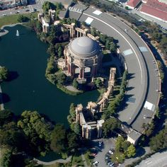 Palace of Fine Arts aerial view