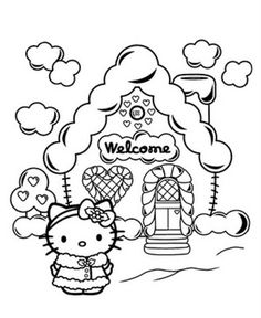 Crayola giant coloring pages hello kitty ~ Hello Kitty~Happy Birthday Princess Coloring Sheet   Hello ...