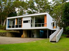 SEIDLER HOUSE  Though located just outside of Sydney, Australia, the house Harry Seidler designed for his mother clearly traces its sources from the European canon. Photo by newformula.