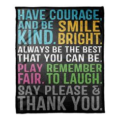 This Designs Direct Be Awesome Throw Blanket features words of inspiration in bold colors like teal, gold, and bright green on a black background. It's great for curling up in to watch TV or read, and is made of a soft and cozy fabric. Best Quotes, Love Quotes, Funny Quotes, Words Quotes, Wise Words, Sayings, Positive Quotes, Motivational Quotes, Inspirational Quotes