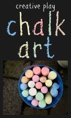 Some of the best fun can be had with the simplest of materials. I love these ideas for chalk and water play.
