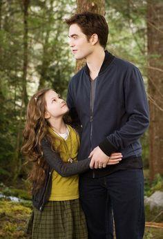 Robert Pattinson & Mackenzie Foy on the set of 'Breaking Dawn Part 2.'