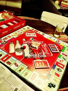 Monopoly Coca-Cola- Obviously. Coca Cola Ad, Always Coca Cola, World Of Coca Cola, Best Soda, Cocoa Cola, Coca Cola Kitchen, Vintage Coke, Vintage Signs, Diet Coke