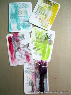 """This week's Simon Says Stamp Monday Challenge Theme is, """"Things with Wings."""" I went for a classic bird shape, which I made into five ATC's...."""