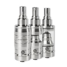 SvoëMesto has completely redesigned the world renowned Kayfun atomizer and incorporated many of the features customers have asked for.  Each Kayfun V4 is manufactured from medical grade 316L stainless steel and comes with 3 tank options: one glass tank, one polycarbonate tank and one steel tank.  Filling is easier than ever by simply unscrewing the drip tip adapter on the top cap which requires no tools.