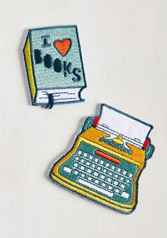 It's hard to say which of these patches is more inspiring - the tome-shaped decal proclaiming your love for reading words, or its typewriter counterpart that communicates your affinity for creating them. No need to choose, because both of these iron-ons are the perfect accent for all your literary endeavors!
