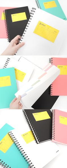 The 5 Subject Lined Notebook has a plenty of lined note and it is evenly divided into 5 sections allowing you to write up to 5 different subjects! Meet the super useful notebook! College Hacks, School Hacks, Diy School Supplies, Office Supplies, School Organization, Organizing, Back To School 2017, Cute Stationary, Pretty Notes