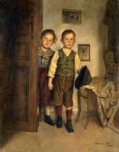 Peeking Into Father's Studio -  Edmund Adler