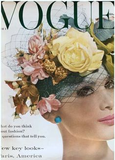Vogue March 1959 (Lilly Dache spring hat)