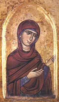 The Theotokos icon, St Catherine's Monastery. Religious Images, Religious Icons, Religious Art, Byzantine Icons, Byzantine Art, Saint Catherine's Monastery, Catholic Art, Art Icon, Orthodox Icons
